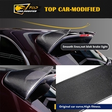 Free shipping Carbon Fiber Middle Race Spoiler for Porsche Cayenne 958 10-12(China)