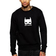 fashion men batman logo sweatshirt autumn causal crewneck hoodies men tops hip hop streetwear pullover(China)