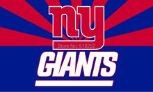 NY Giants with new style Flag 3x5 FT 150X90CM NFL Banner 100D Polyester Custom flag grommets 6038,free shipping(China)