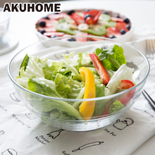 Mixing Bowl Glass Salad Bowl With Dressing Sauce Cup Salad Container For Easy Storage Stay Fresh(China)