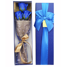 2017 Valentine's Day Cartoon Stitch Bouquet + Soap Rose Festivals Gift For Graduation Birthday Wedding With Luxury Gift Box