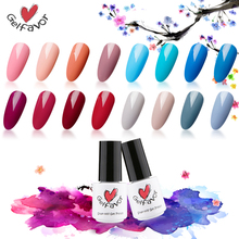 Gelfavor Series 62 Colors 7ML Beauty Colors Gel Nail Polish Soak off UV LED Primer Gel Nail Polish Gel Varnish