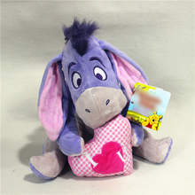 Free shipping sitting height 25cm Donkey Eeyore plush toys for children cartoon action figure plush animal dolls birthday gift(China)