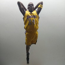 New arrive 29cm NBA star limited edition Kobe Bryant   Action Figure Model Toys Collections Dolls Get a free stadium and Stand