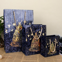 Merry Christmas Gift Bag Christmas Tree Art Paper Hand Bag Holiday Party Gift Wrap Color Package SD776