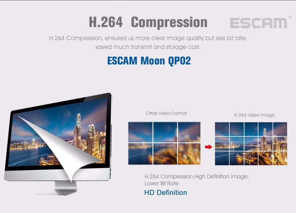 Escam Moon QP02 2MP HD 1080P WIFI Alarm Camera Outdoor Bullet IR-Cut 180 degree Security ip Camera Support Max 64G TF card (4)