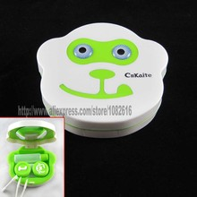 Cute Monkey Design Contact Lens Box Lenses Box Eyes Case Cnkaite Brand Cleaning Case For Glasses Carry Holder Container(China)