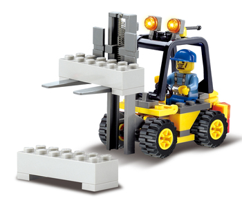 Kazi 8041 bloques city forklift 70 unids ladrillos bloques huecos de los juguetes educativos para los niños