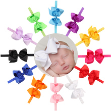 4.7 inch Hair Bow Baby Girl Bowknot Headband Grosgrain Ribbon Bow Headband Children Kids' Boutique Headwear Provide Wholesale(China)