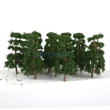 20 Pcs Scenery Landscape Train Model Pine Trees Scale 1/150 Free Shipping