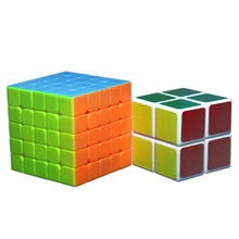 Buy 1 Get 1 Free 5*5*5 Stickerless Puzzle Cube Rubik 6.1 CM Plus 5 CM Stickers Rubik Square 2*2*2 as Gift Puzzles & Magic Cubes