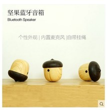 Wireless Bluetooth Speaker Portable Mini Speaker Cute Wooden USB Charge Loudspeaker For iPhone Xiaomi smartphone Computer(China)
