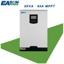 EASUN POWER Solar Inverter 5KVA 4000w 48v 220v solar inverter with mppt solar charger 60A Pure Sine Wave 60A battery charger(China)
