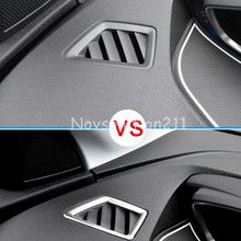 Left Hand Drive Car!  Stainless Steel Front Upper Air Cover Trim For Peugeot 3008 GT 2016 2017