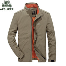 Afs Jeep 2017 Fashion New Mens Spring Jacket Casual Windbreaker Autumn jaqueta masculina Coat Male High Quality Slim Jackets(China)