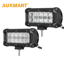 Auxmart 60W 7 inch CREE Chips 5D LED Work Light Flood/Spot Beam Led Light Fit Truck Motorcycle ATV 4x4 Wagon Tractor Fog Lights