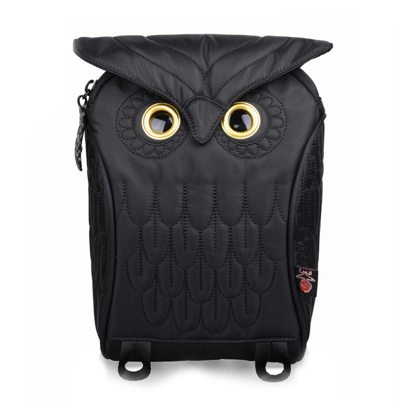 New Style Tide Men And Women Personalized Backpack Embossed Owl Backpack Fashion Tide Cartoon Cute Animal Waterproof Women Bags<br>