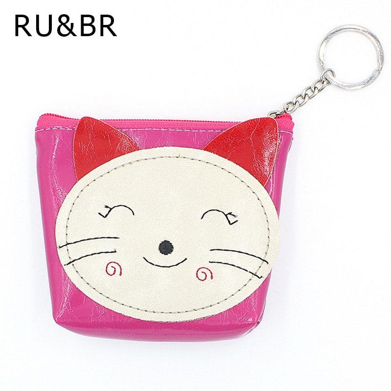 RU&amp;BR RU&amp;BR Hot Sale Women Fortune Cat Coin Purse Creative PU Leather Money Bag Keys Package Casual Zipper Cartoon Coin Packet<br><br>Aliexpress