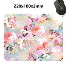 Custom 3D print The beauty of the flower design Mouse Pad Computer Gaming Mouse Pads For Optical Anti-slip Smooth Mice Mat