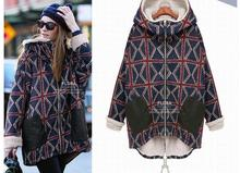 Free Shipping.sales thick fleece,cotton winter warm coat,women's Brand New fashion,long jacket plus size 5