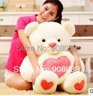 New Lovely Plush Toy Soft Stuffed Animals 60cm LOVE Teddy Bear Big Embrace Christmas Birthday Lovers Gift 3 Color(China)