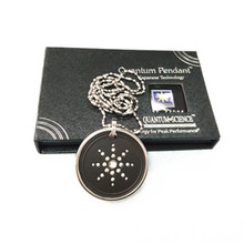 Man Stainless Steel Energy Pendant Scalar Quantum Pendants Japanese Technology High Negative Ions with Package Box & Card