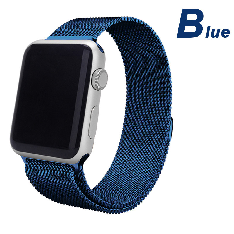 Milanese Loop for apple watch 38mm 42mm milanese wrist band/strap  Stainless Steel Band /Sport with magnetic  8colors+Connector<br><br>Aliexpress