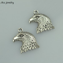 Buy 10 pcs free Retro silver charms diy metal eagle pendant necklace&bracelets jewelry making 21*17 mm 33110A for $1.20 in AliExpress store