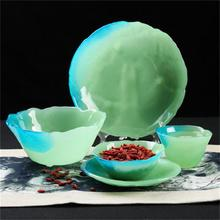 Color glass tableware Dessert bowl salad bowl Tea cup disc Condiment dish(China)