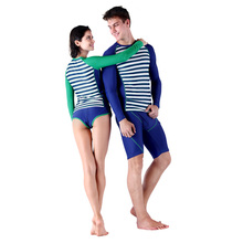 SABOLAY Quick-dry Beach Surfing Shirts Lovers Style Shorts Rash Guards Two Piece Suits For Water Sports Free Shipping
