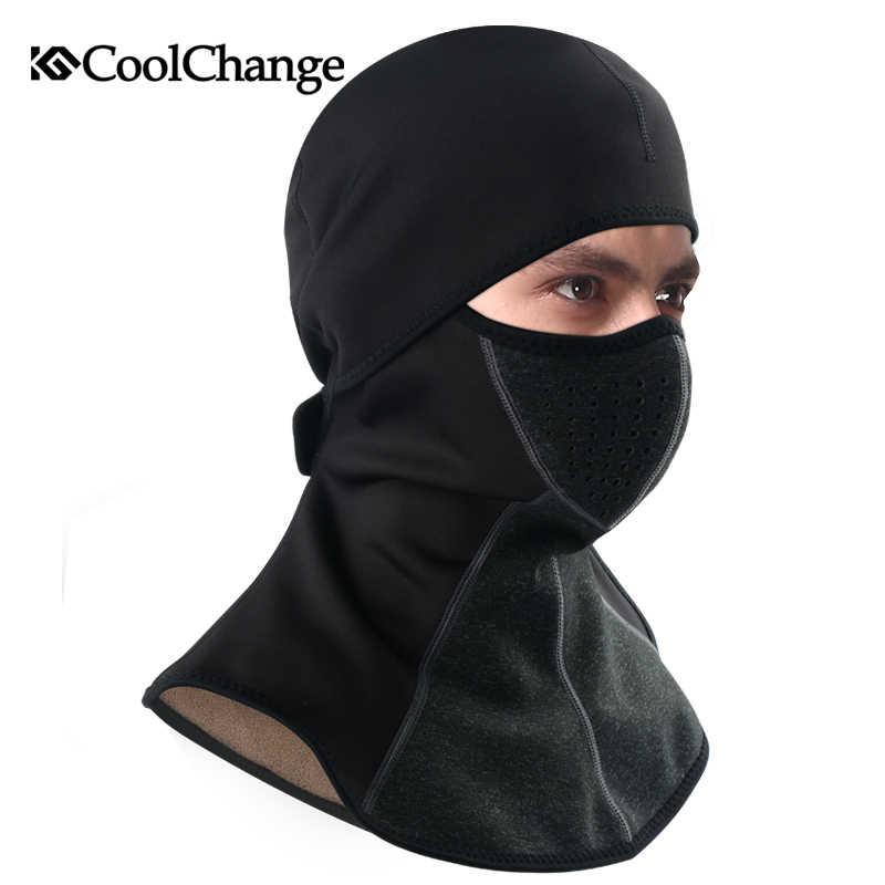 CoolChange зимняя велосипедная Кепка Флисовая теплая Ветрозащитная маска  для лица велосипедная Лыжная Шапка холодный головной убор ab841081eeb