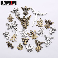 Buy Kupla Vintage Metal Mixed Religious Angel Charms Jewelry Making Zinc Alloy Diy Fashion Accessories Angel Pendant Charms for $4.03 in AliExpress store