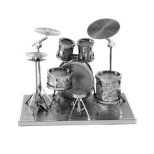 Various Musical Instruments Jigsaw Puzzle Metal Stainless Steel Classic Cello Piano Drums 3D Puzzle Assembling Kids Toys