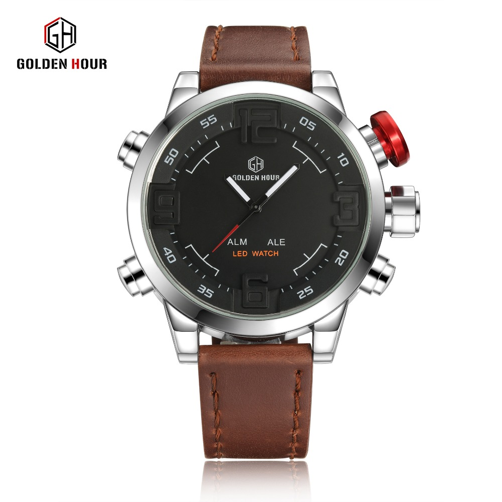 Hot Brand Watches Mens Casual Watch Multi-function Led Watches Men Shark watch style Alarm Sports Diver Quartz Wristwatches<br>