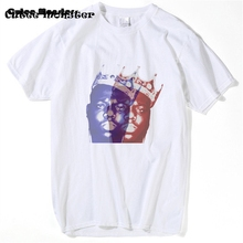 Biggie Smalls T-shirt Mens Notorious B.I.G. Crown King T shirt 2017 Summer Frank White Short Sleeve Hardcore Hip Hop Tee 3XL(China)