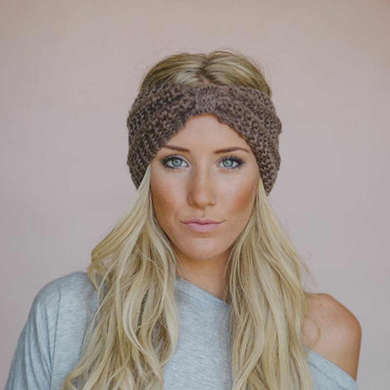 95d7ed11541 Warm Winter Women Knitted Hat Lady Ponytail Beanie Hats Female High Stretch  Cable Wool Messy Bun