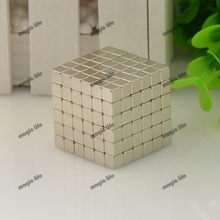 Three Size cube  Magnetic Balls Grade N35 Magic toy Puzzle Magnet Block Cubo Magico Education Toys +metal Box+bag+card