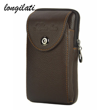Buy 2017 New Genuine Leather Portable Mini Pocket Belt Waist Bag Fanny Men Mobile Phone Wallet Travel Small Waist Pack Brown for $8.23 in AliExpress store