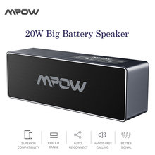 Mpow Bluetooth Speaker, Portable Wireless Speaker with 20W Output HD Audio with Built-in Microphone Speakers for iPhone Android