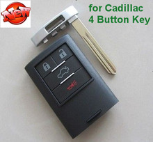 High Quality New Smart Remote Key Fob 4 Button for 2008-2009 Cadillac XLR FCC ID:M3N5WY7777A