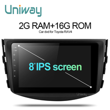 Uniway 2G+16G android 6.0 car dvd for Toyota RAV4 2007 2008 2009 2010 2011 car radio stereo gps navigation with steering wheel(China)