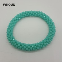 Lingshang 3mm, crystal, natural bracelet, handmade jewelry, knitting accessories wholesale, women gifts(China)