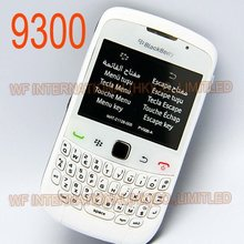 Original BlackBerry 9300 Curve Mobile Phone Smartphone Unlocked 3G WIFI Bluetooth Cellphone & White
