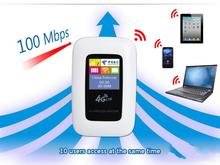 Unlocked 100Mbps Mobile Hotspot 3G 4G LTE FDD(1800/2100) TDD(1900/2300/2600) Portable Wireless wifi Router with LCD Screen