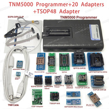 TNM5000 USB Programmer+20 PCS Adapters+TSOP48 Adapter+ Test Clip for NAND flash/EPROM/MCU/PLD/FPGA/IS/JTAG,Support K9GAG08U0E