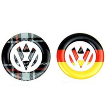 Germany Flag VW Emblem Steering Wheel Car Sticker For Volkswagen Golf 6 7 Polo Beetle Touran Passat CC R36 Front Rear Logo Decal