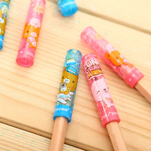 6 Pcs/lot Cute Kawaii Deli Pencil Cap Topper Office School Supplies Stationery Blue Pink(China)