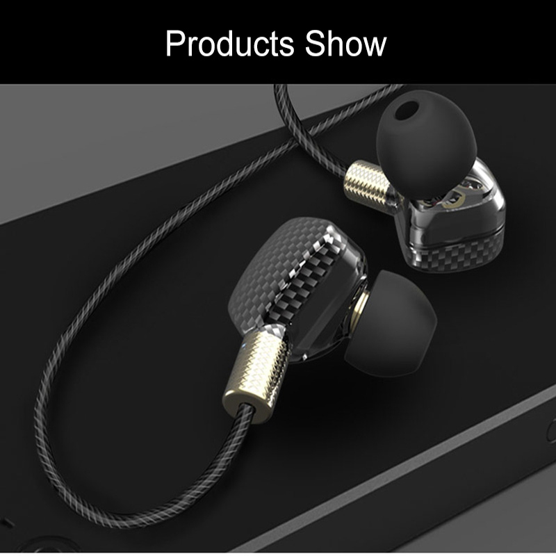 YINJW P8 Three Dynamic Driver System Speakers super bass HIFI Stereo in ear earphone earbuds sports headsets with microphone