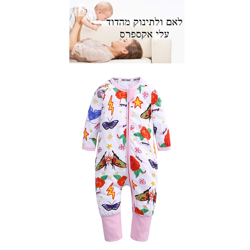 long sleeve o-neck baby jumpsuit zipper floral print cotton boys girls clothes newborn rompers new born costume