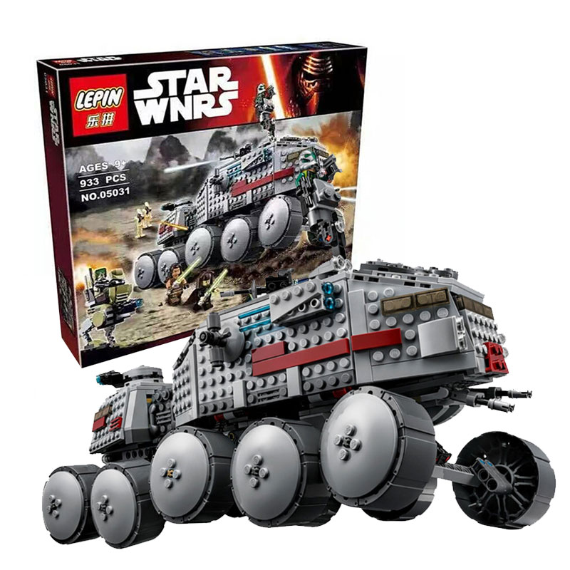 933Pcs LEPIN 05031 Star Wars Clone Turbo Tank 75151 Building Blocks Compatible with 75151 STAR WARS Toy 05031 Boys Toys Gift<br>